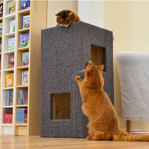 kratzbaum online shop kratzbaum convenient i hellgrau natur ohne lederecken. Black Bedroom Furniture Sets. Home Design Ideas