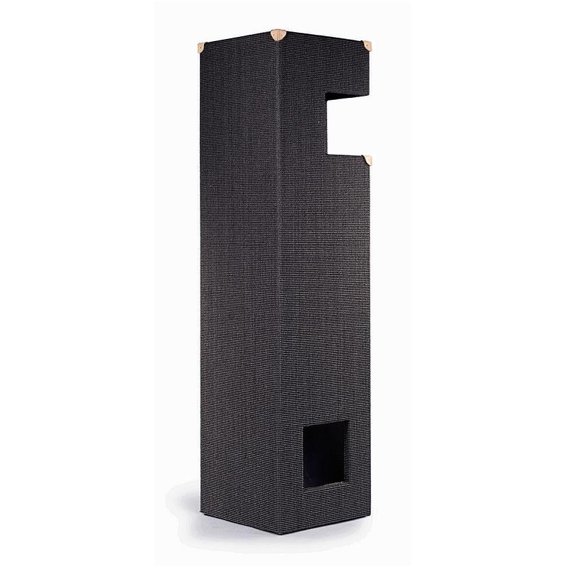 kratzbaum online shop kratzbaum dome anthrazit gebeizt mit lederecken. Black Bedroom Furniture Sets. Home Design Ideas