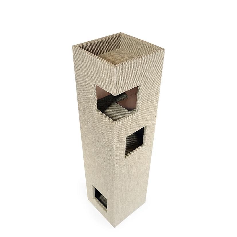 kratzbaum online shop kratzbaum dome hellgrau natur ohne lederecken. Black Bedroom Furniture Sets. Home Design Ideas