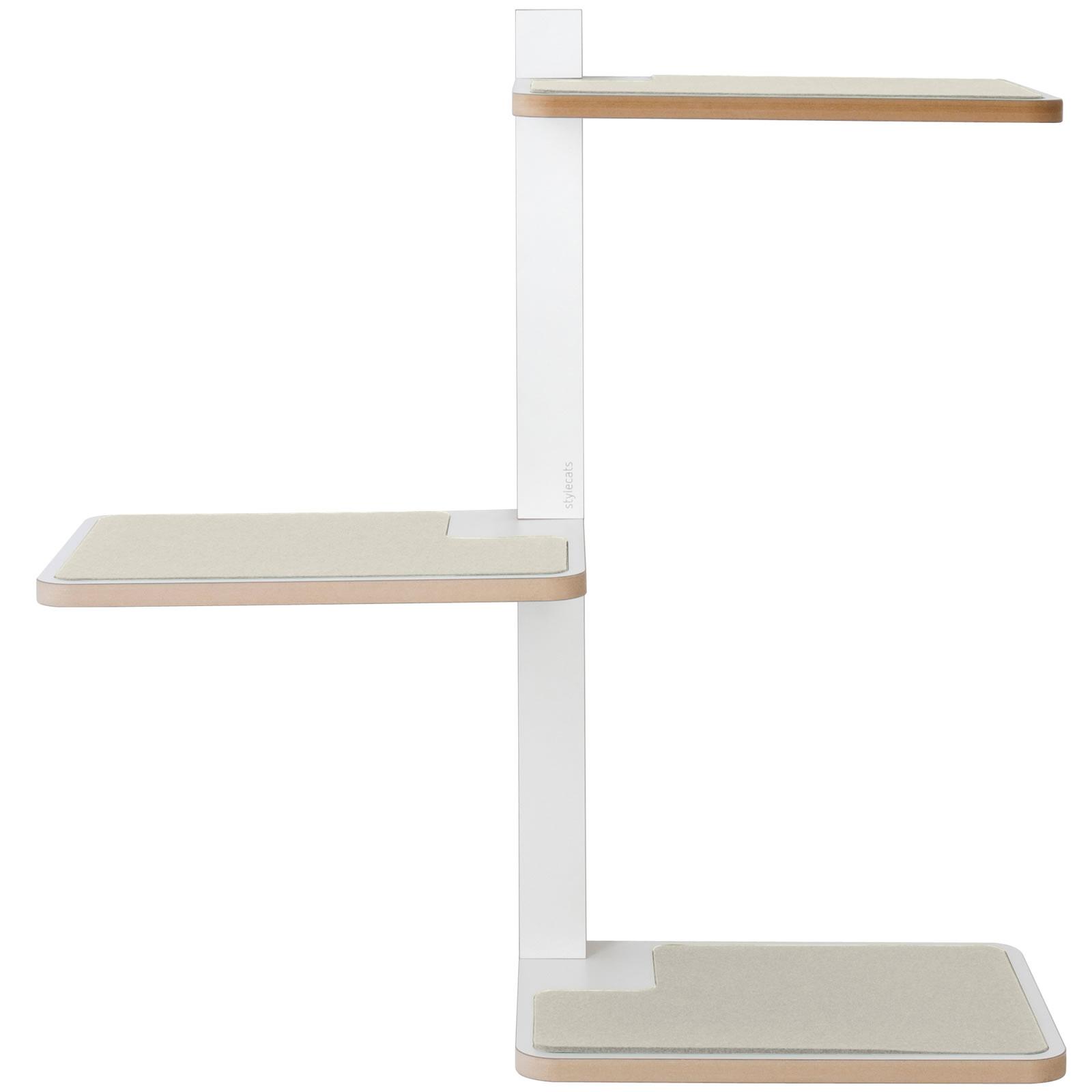 kratzbaum online shop katzenm bel freischweber wei 3 liegefl chen. Black Bedroom Furniture Sets. Home Design Ideas