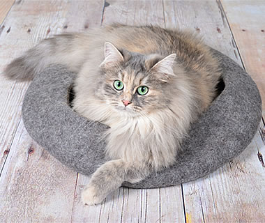 felted Cat Bed Bowl - More product information