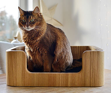 Cat Bed Woodie - More product information