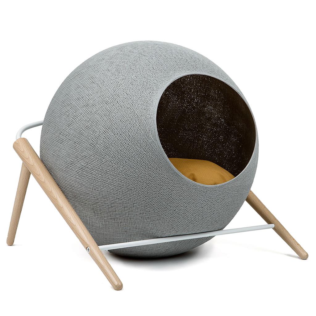 kratzbaum online shop kuschelh hle the ball hellgrau. Black Bedroom Furniture Sets. Home Design Ideas