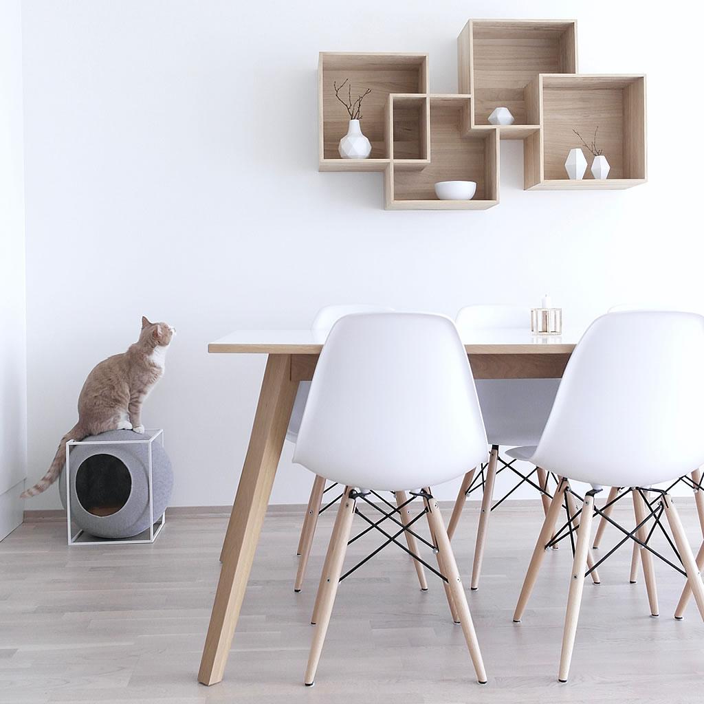 kratzbaum online shop kuschelh hle the cube champagner. Black Bedroom Furniture Sets. Home Design Ideas