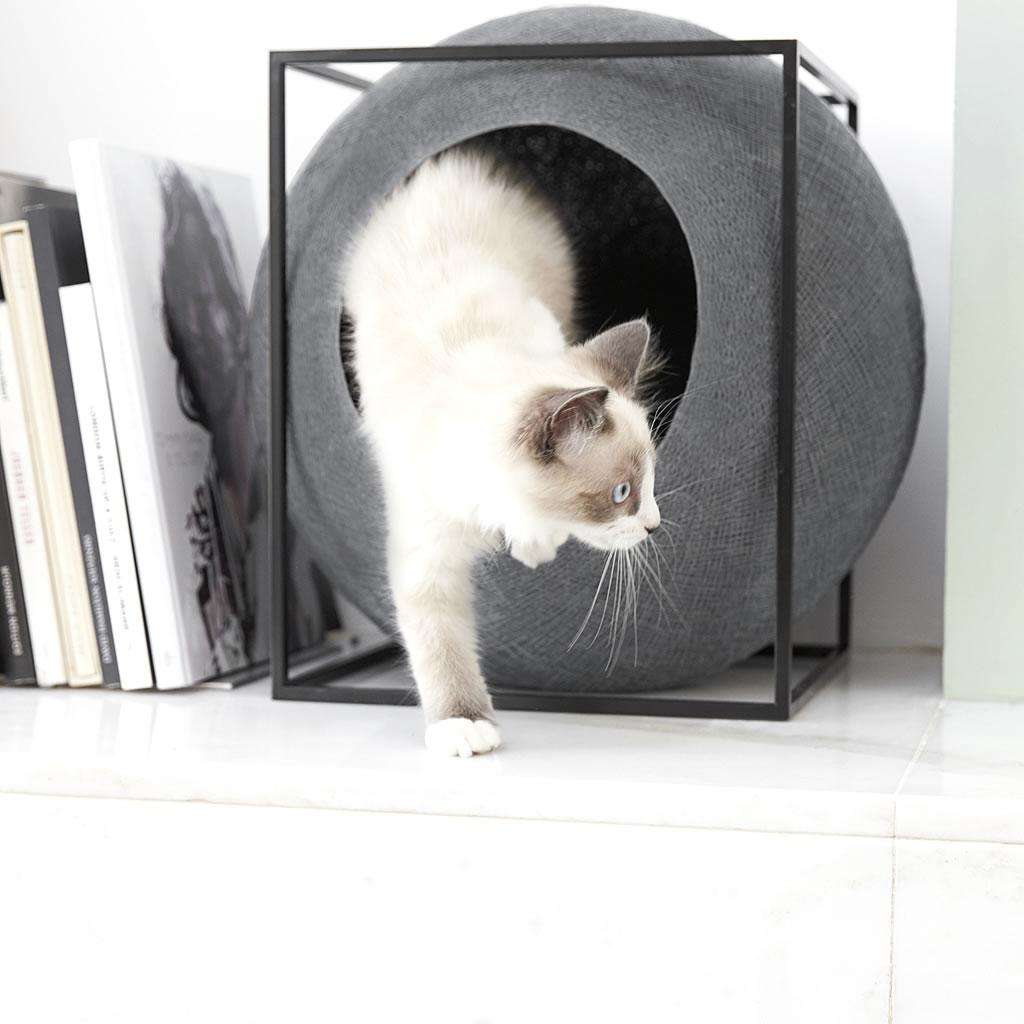 kratzbaum online shop kuschelh hle the cube dunkelgrau. Black Bedroom Furniture Sets. Home Design Ideas