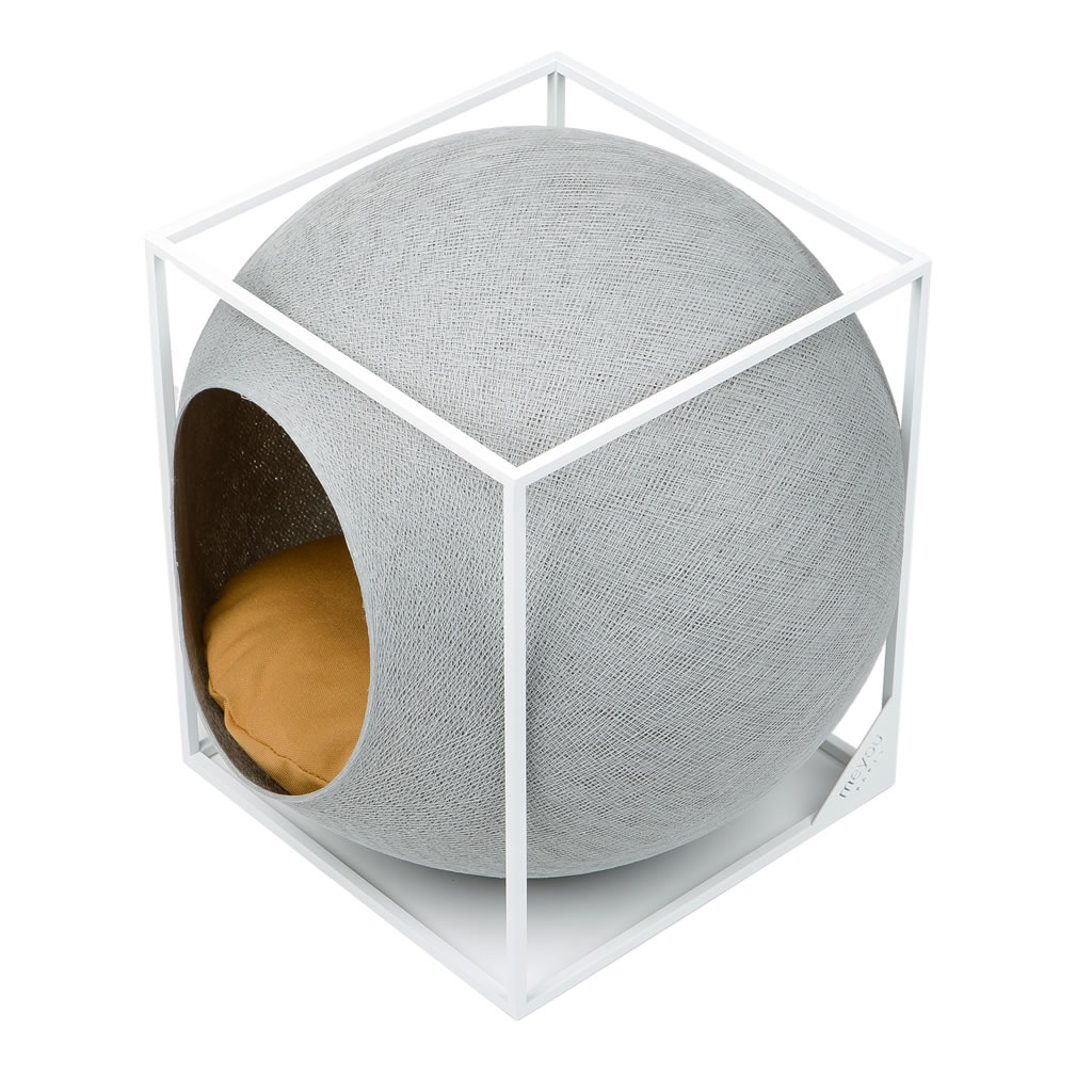 kratzbaum online shop kuschelh hle the cube hellgrau. Black Bedroom Furniture Sets. Home Design Ideas