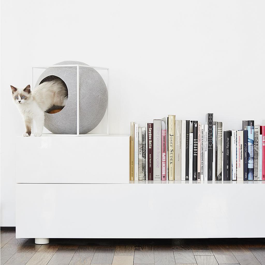 kratzbaum online shop kuschelh hle the cube petrol. Black Bedroom Furniture Sets. Home Design Ideas