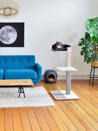 kratzbaum online shop kratzbaum home wei 1 liegefl che. Black Bedroom Furniture Sets. Home Design Ideas