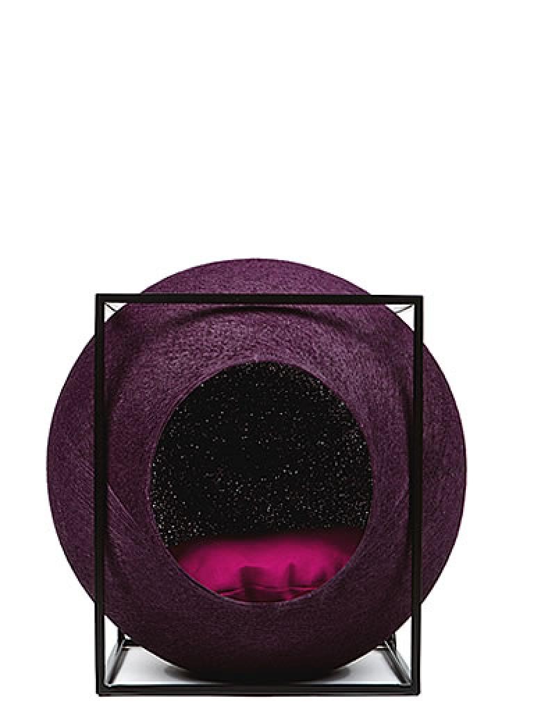 kratzbaum online shop kuschelh hle the cube purple. Black Bedroom Furniture Sets. Home Design Ideas