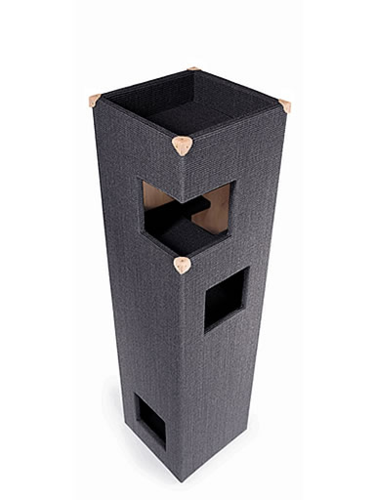 kratzbaum online shop kratzbaum dome natur mit lederecken. Black Bedroom Furniture Sets. Home Design Ideas
