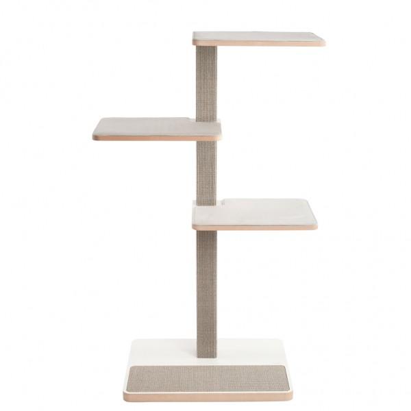 Sonderverkauf | Kratzbaum CLU 3 Liegeflächen mit Kratzfläche hellgrau